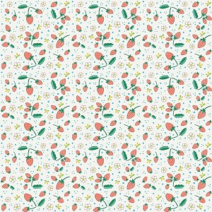 Penny Rose Fabrics - Bunnies and Blossoms Strawberries Cream