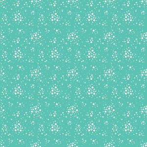 Penny Rose Fabrics - Bunnies and Blossoms Floral Teal