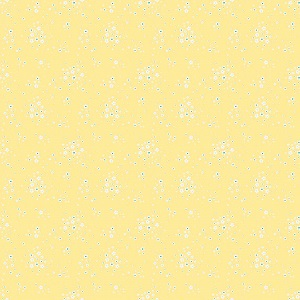 Penny Rose Fabrics - Bunnies and Blossoms Floral Yellow