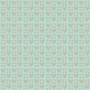 Riley Blake Designs - Grandale Stitches Mint
