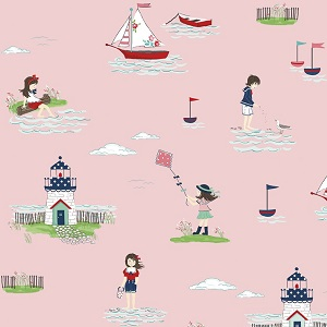 Riley Blake Designs - Seaside Main in Pink