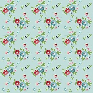 Riley Blake Designs - Seaside Floral in Aqua