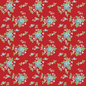 Riley Blake Designs - Seaside Floral in Red