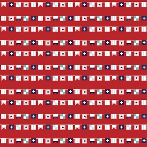 Riley Blake Designs - Seaside Flags in Red