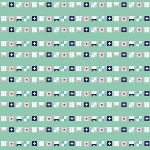 Riley Blake Designs - Seaside Flags in Teal