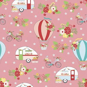 Riley Blake Designs - Vintage Adventure Main in Pink