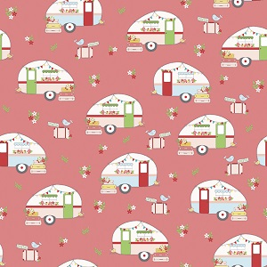 Riley Blake Designs - Vintage Adventure Camper in Pink