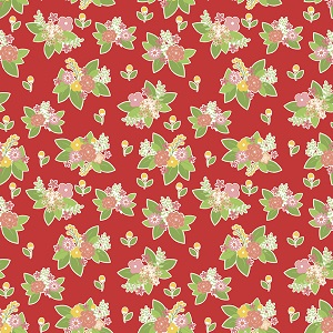 Riley Blake Designs - Vintage Adventure Floral in Red