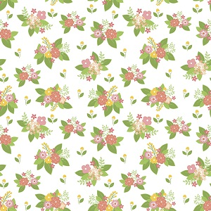Riley Blake Designs - Vintage Adventure Floral in White