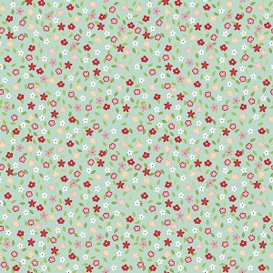 Riley Blake Designs - Vintage Adventure Tiny Floral in Aqua