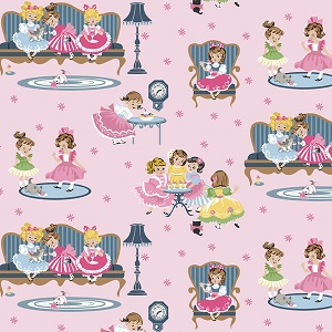 Penny Rose Fabrics - Petite Treat Main in Pink