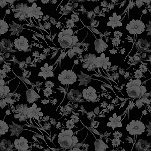 Penny Rose Fabrics - Afternoon Picnic Tonal in Black