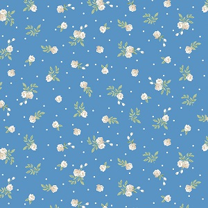 Penny Rose Fabrics - Afternoon Picnic Rose in Blue