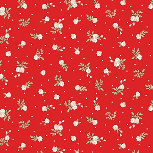 Penny Rose Fabrics - Afternoon Picnic Rose in Red