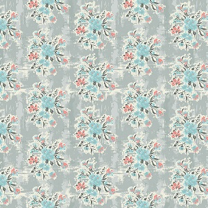 Riley Blake Designs - Abbie - Floral in Gray