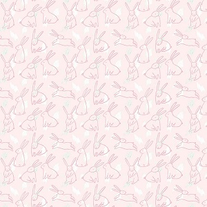 Riley Blake Designs - Mary Elizabeth - Bunnies in Pink *** PREORDER ARRIVING END OF JANUARY 2019 ***