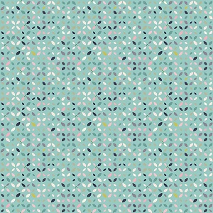 Riley Blake Designs - Mary Elizabeth - Petals in Mint *** PREORDER ARRIVING END OF JANUARY 2019 ***