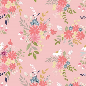 Riley Blake Designs - In The Meadow Main in Pink