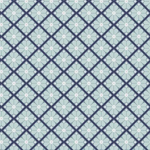 Riley Blake Designs - In The Meadow Lattice in Blue