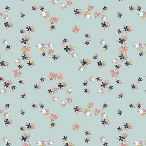 Riley Blake Designs - In The Meadow Flower Patch in Blue