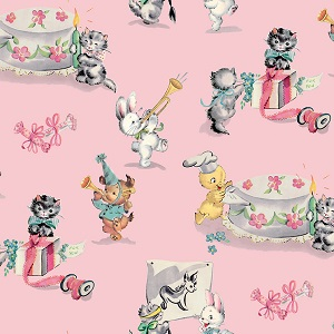 Penny Rose Fabrics - Perfect Party Main in Pink