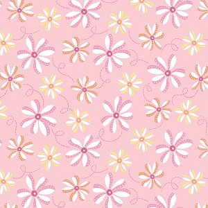 Penny Rose Fabrics - Perfect Party Floral in Pink
