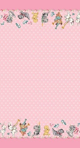 Penny Rose Fabrics - Perfect Party Double Border in Pink