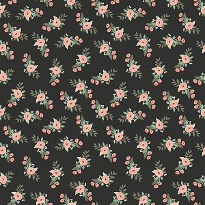 Riley Blake Designs - Bliss Floral in Black
