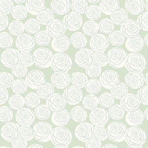 Riley Blake Designs - Bliss Roses in Mint