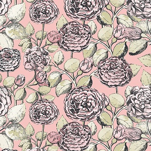 Penny Rose Fabrics - Sweet Stems Main in Pink