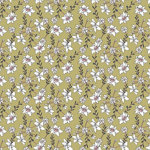 Penny Rose Fabrics - Sweet Stems Vine in Green
