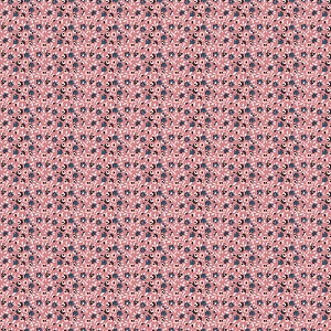 Penny Rose Fabrics - Sweet Stems Floral in Dark Pink