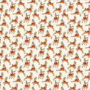 Riley Blake Designs - Merry and Bright Deer in Cream