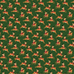 Riley Blake Designs - Merry and Bright Deer in Green