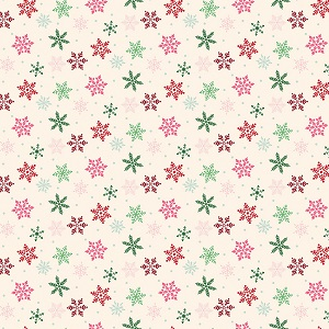 Riley Blake Designs - Merry and Bright Snowflakes in Cream