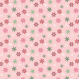 Riley Blake Designs - Merry and Bright Snowflakes in Pink