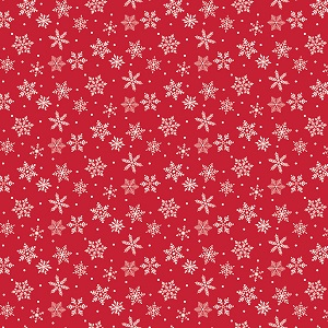 Riley Blake Designs - Merry and Bright Snowflakes in Red