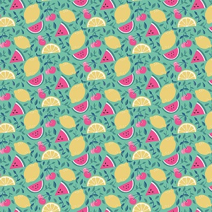 Riley Blake Designs - I'd Rather Be Glamping Fruit in Mint