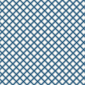 Riley Blake Designs - I'd Rather Be Glamping Plaid in Blue