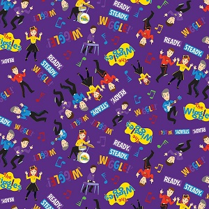 Riley Blake Designs The Wiggles Ready Steady Wiggle! - Main in Purple