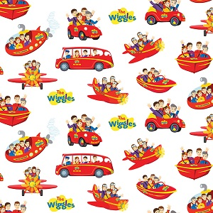 Riley Blake Designs The Wiggles Ready Steady Wiggle! - Wiggle to Go in White