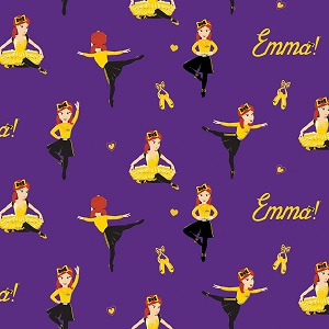 Riley Blake Designs The Wiggles Ready Steady Wiggle! - Ballet Emma in Purple