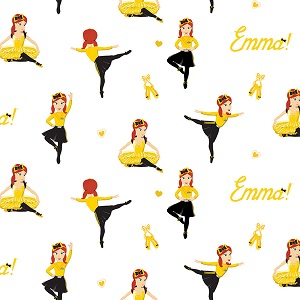 Riley Blake Designs The Wiggles Ready Steady Wiggle! - Ballet Emma in White