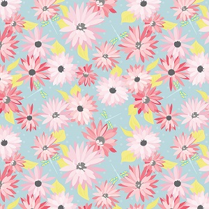 Riley Blake Designs Paper Daisies Main in Blue