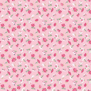 Riley Blake Designs - Pretty Bunnies and Flowers Flowers in Pink