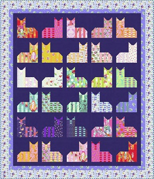 Freespirit Fabrics Tula Pink Cheshire Cat Quilt Kit in Diva Colourway *** PRE-ORDER - ARRIVING JUNE 2021 ***