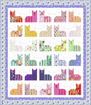Freespirit Fabrics Tula Pink Cheshire Cat Quilt Kit in Flake Colourway *** PRE-ORDER - ARRIVING JUNE 2021 ***