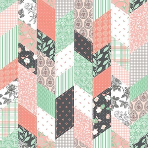 Riley Blake Designs - Sew Charming Designer Cloth in Coral