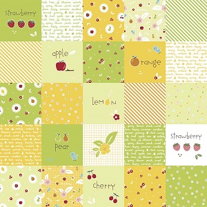 Riley Blake Designs - Sweet Orchard Designer Cloth in Green