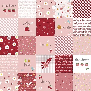 Riley Blake Designs - Sweet Orchard Designer Cloth in Pink